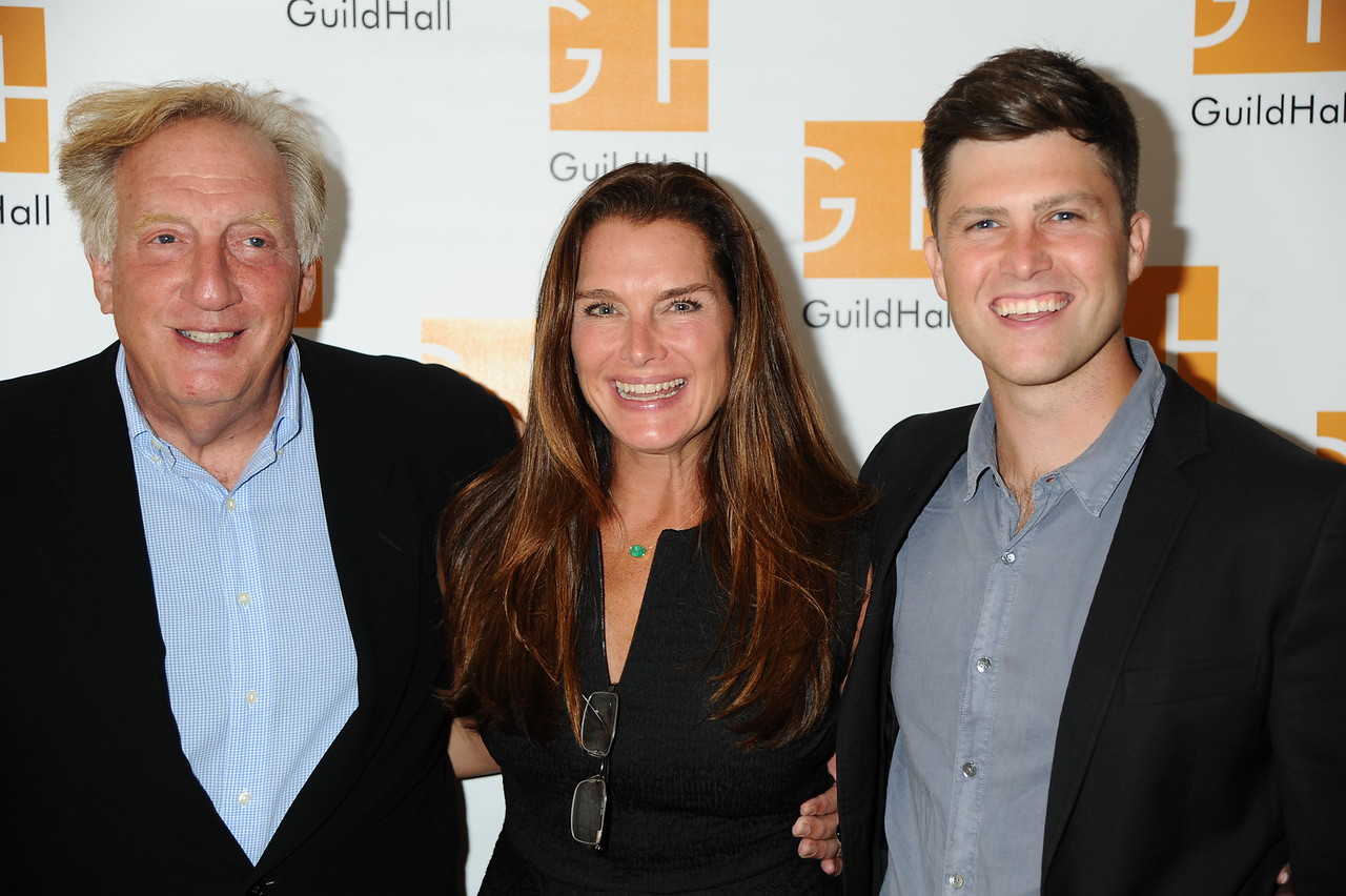 Alan Zweibel, Brooke Shields, and Colin Jost