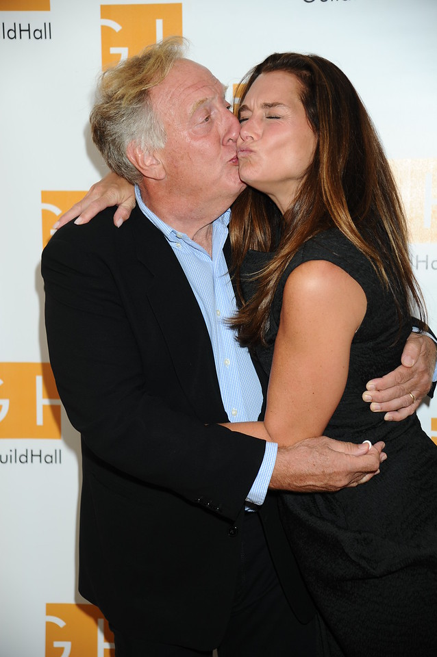 Alan Zweibel and  Brooke Shields 