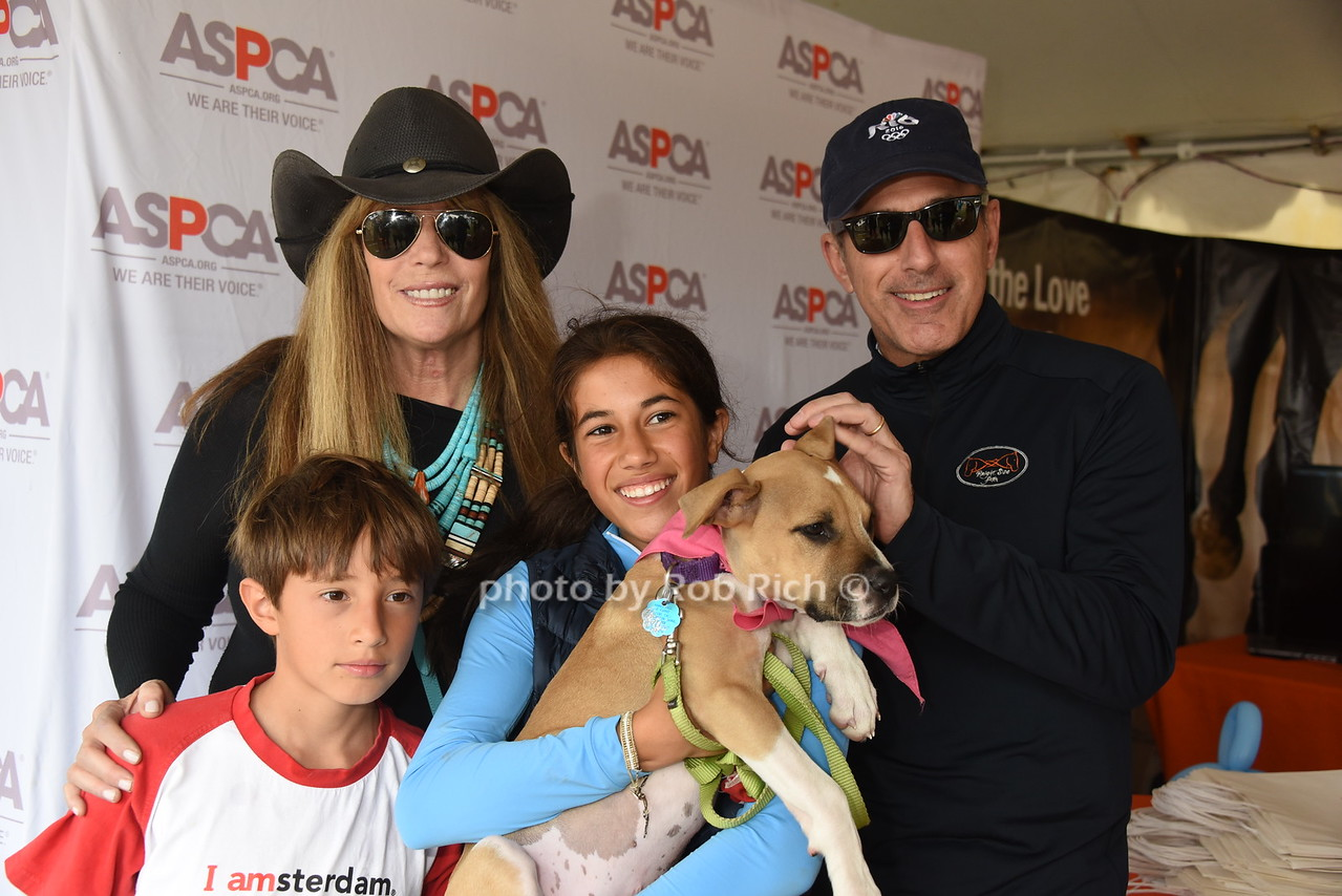 Thijs Lauer, Jill Rapport ,Romy Lauer, Mocha the Dog, and Matt Lauer