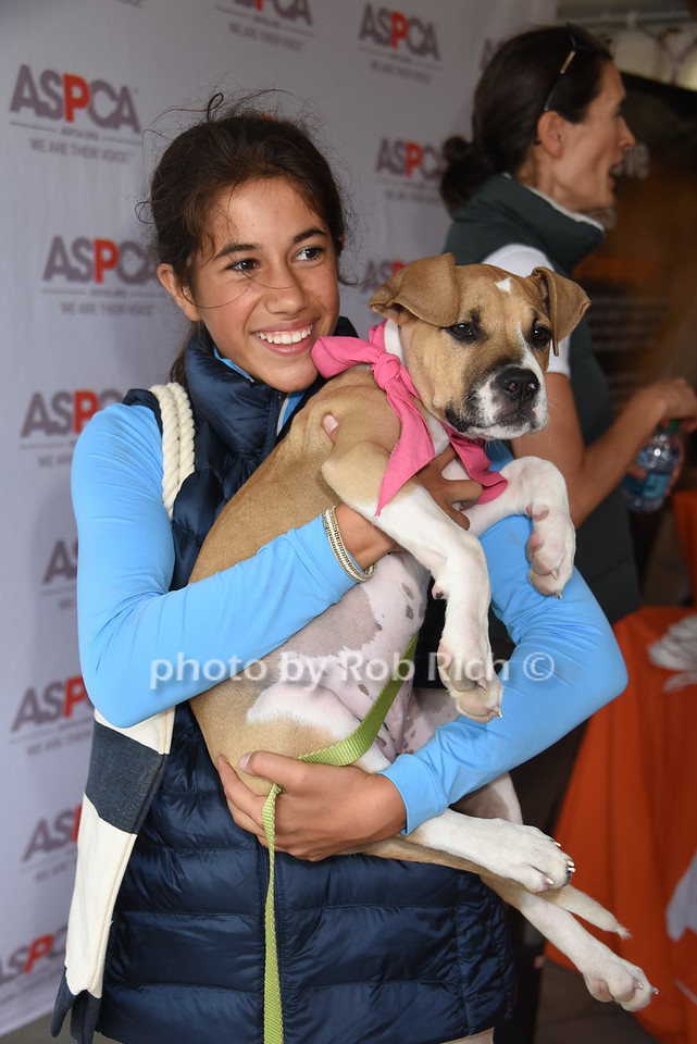 Romy Lauer and Mocha the Dog