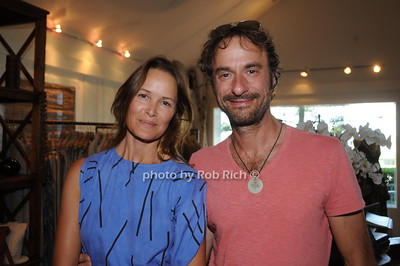 Sunny Halsa and Peter Sabbath attend David Heath Adventure Photographer Raises Funds to Give  Back  to Myanmar during book signing at Urban Zen boutique in Sag Harbor. July 23, 2016.