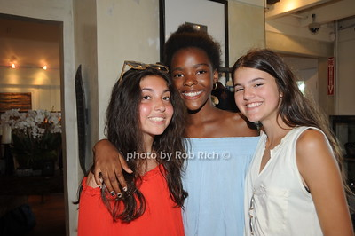 From Left, Ellie Rubin, Julia Vickers, and Calypso Boele attend David Heath Adventure Photographer Raises Funds to Give  Back  to Myanmar during book signing at Urban Zen boutique in Sag Harbor. July 23, 2016.