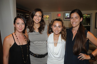From Left Katherine Solon, Michelle Swavely, Gabby Bialsky and Monica Frisbie, attend David Heath Adventure Photographer Raises Funds to Give  Back  to Myanmar during book signing at Urban Zen boutique in Sag Harbor. July 23, 2016.