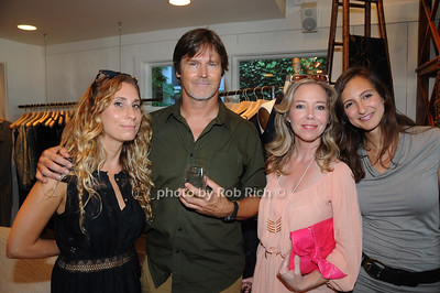 From left, Laura Rubin Photographer/ Artis David Heath Laura Eismin and Michelle Swarely attend David Heath Adventure Photographer Raises Funds to Give  Back  to Myanmar during book signing at Urban Zen boutique in Sag Harbor. July 23, 2016.
