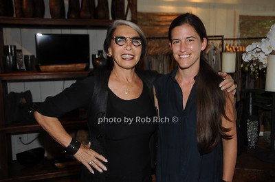 """Artis """"Vered"""" (L) and Monica Frisbie, attend David Heath Adventure Photographer Raises Funds to Give  Back  to Myanmar during book signing at Urban Zen boutique in Sag Harbor. July 23, 2016."""