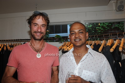 Peter Sabbath and Nilay Oza attend David Heath Adventure Photographer Raises Funds to Give  Back  to Myanmar during book signing at Urban Zen boutique in Sag Harbor. July 23, 2016.