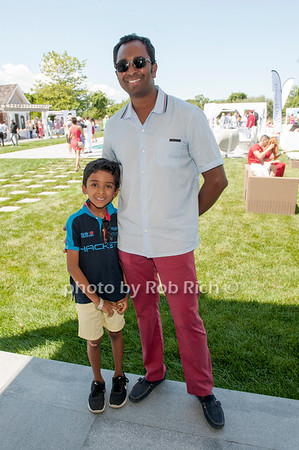 Spencer and Shermon Peters attend  the Rand Luxury event at a private residence in Bridgehampton on August 7,2016.