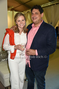 "Lauren Wilcox and Richard Rubinstein attend the Samuel Waman Cancer Research Foundation 12th.Annual ""A Hamptons Happening"" at the private residence of Ken and Maria Fishel in Bridgehamton on July 9, 2016."