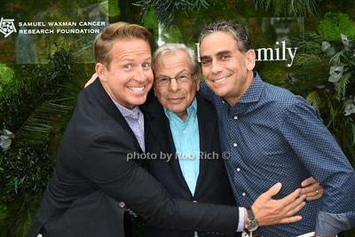 """Chris Wragge,Dr.Samuel Waxman, and  Michael Nierenberg attend the Samuel Waman Cancer Research Foundation 12th.Annual """"A Hamptons Happening"""" at the private residence of Ken and Maria Fishel in Bridgehamton on July 9, 2016."""
