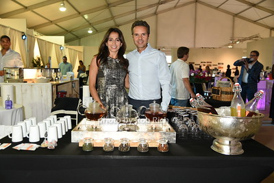 """Tatiana Teixtira and Alex Teixtira   attend the Samuel Waman Cancer Research Foundation 12th.Annual """"A Hamptons Happening"""" at the private residence of Ken and Maria Fishel in Bridgehamton on July 9, 2016."""