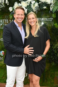 """CBS news anchor Chris Wragge and wife expectant wife Sarah Wragge attend the Samuel Waman Cancer Research Foundation 12th.Annual """"A Hamptons Happening"""" at the private residence of Ken and Maria Fishel in Bridgehamton on July 9, 2016."""