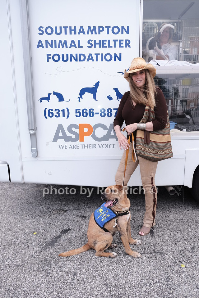 Jill Rappaport and rescue dog for adoption