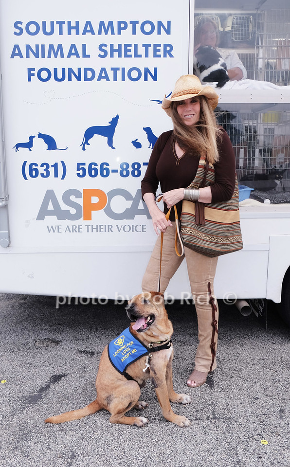 Jill Rappaport with a rescue dog for adoption