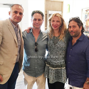 Ronn Torossian, Jason Binn, Courtney Love, Mike Heller ©Jason Binn