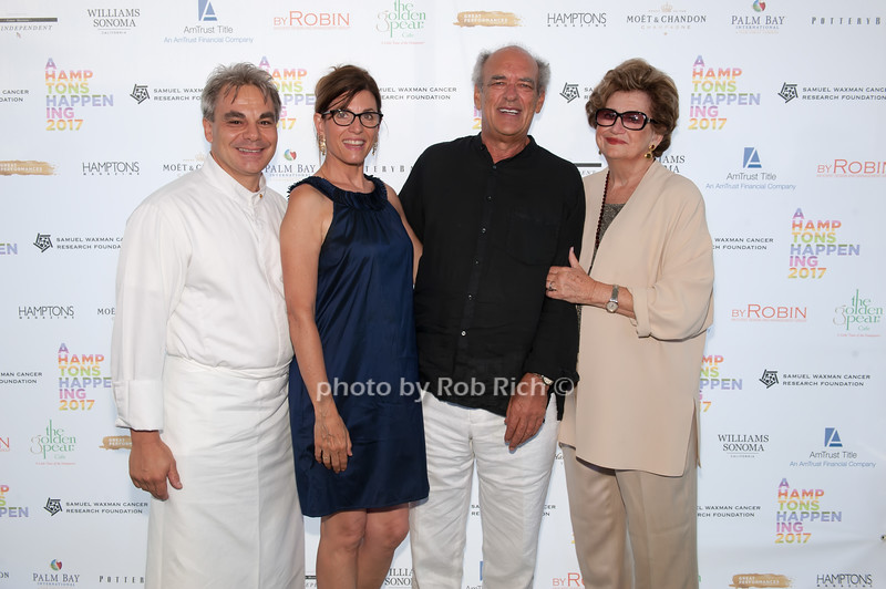 Chef Gabrriel Kreuther and Bobbie Lloyd and Shep Gordon and Margaret Hayes photo by D.Gonzalez for Rob Rich/SocietyAllure.com ©2017 robrich101@gmail.com 516-676-3939