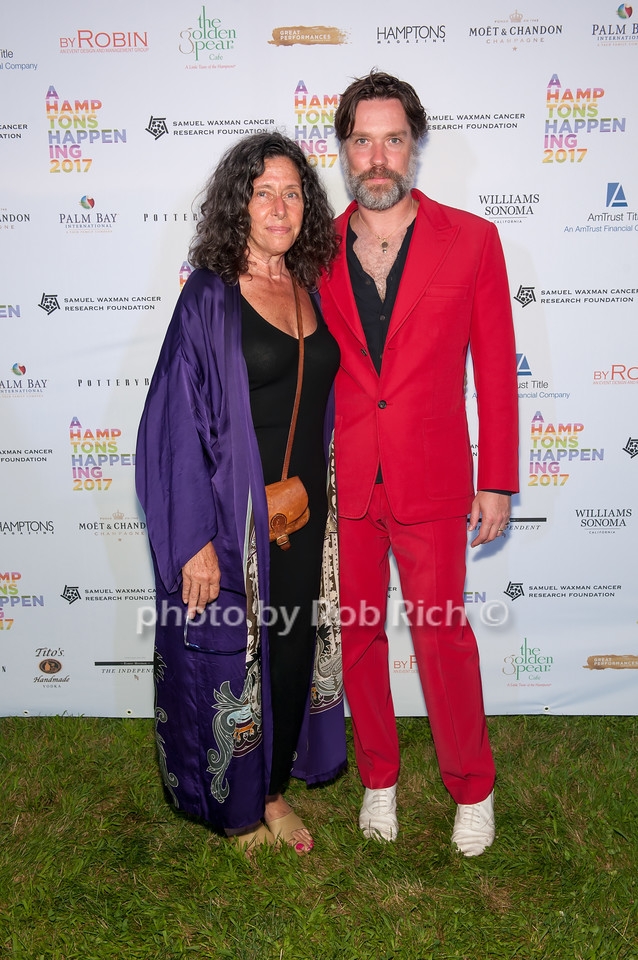 Donna Hadjipopov and Rufus Wainwright  photo by D.Gonzalez for Rob Rich/SocietyAllure.com ©2017 robrich101@gmail.com 516-676-3939