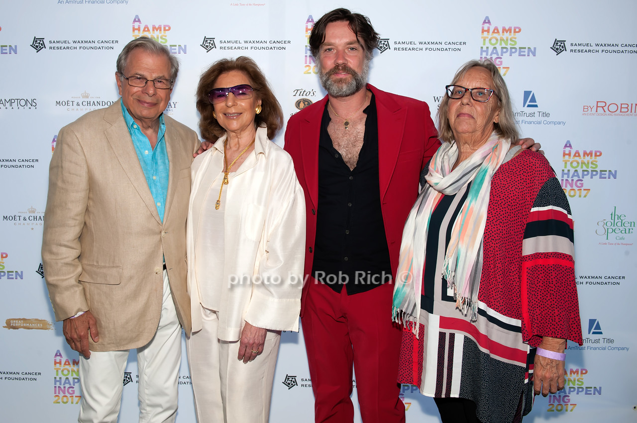 Dr.Samuel Waxman and Marion Waxman and Rufus Wainwright and Teddy Wainwright photo by D.Gonzalez for Rob Rich/SocietyAllure.com ©2017 robrich101@gmail.com 516-676-3939