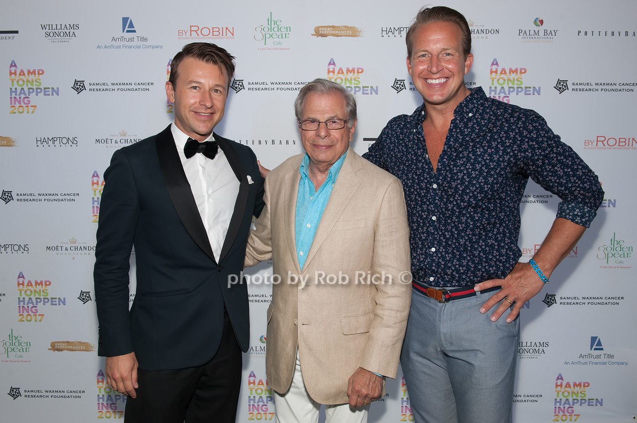 Lucas Hunt and Dr.Samuel Waxman and Chris Wragge photo by D.Gonzalez for Rob Rich/SocietyAllure.com ©2017 robrich101@gmail.com 516-676-3939