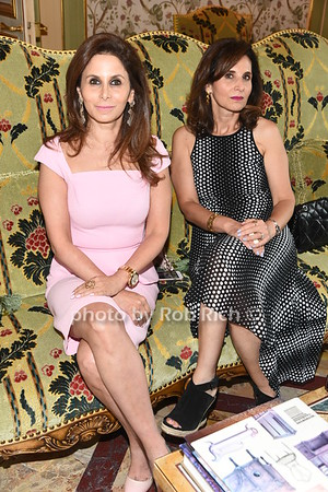 Nadia Eshaghpour and Ilana Yeroush attend the American Friends of the Open University of Israel Luncheon & Fashion extravaganza  at the Hamptons' residence of Ingeborg  and Ira Leon Rennert on Friday, July 7, 2017. photo by Rob Rich/SocietyAllure.com ©2017 robrich101@gmail.com 516-676-3939