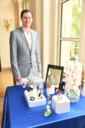 David Klein displays his jewelry at  the American Friends of the Open University of Israel Luncheon & Fashion extravaganza  at the Hamptons' residence of Ingeborg  and Ira Leon Rennert on Friday, July 7, 2017. photo by Rob Rich/SocietyAllure.com ©2017 robrich101@gmail.com 516-676-3939