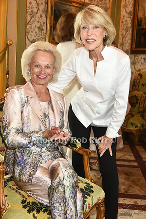 Ingeborg Rennert and Susan Ascher attend the American Friends of the Open University of Israel Luncheon & Fashion extravaganza  at the Hamptons' residence of Ingeborg  and Ira Leon Rennert on Friday, July 7, 2017. photo by Rob Rich/SocietyAllure.com ©2017 robrich101@gmail.com 516-676-3939