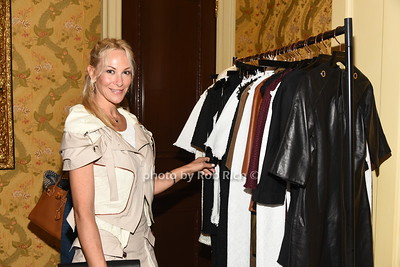 Eve Winston checking out the fashions at the American Friends of the Open University of Israel Luncheon & Fashion extravaganza  at the Hamptons' residence of Ingeborg  and Ira Leon Rennert on Friday, July 7, 2017. photo by Rob Rich/SocietyAllure.com ©2017 robrich101@gmail.com 516-676-3939