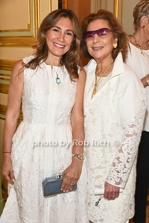 Maria Fishel and Marion Waxman attend the American Friends of the Open University of Israel Luncheon & Fashion extravaganza  at the Hamptons' residence of Ingeborg  and Ira Leon Rennert on Friday, July 7, 2017. photo by Rob Rich/SocietyAllure.com ©2017 robrich101@gmail.com 516-676-3939