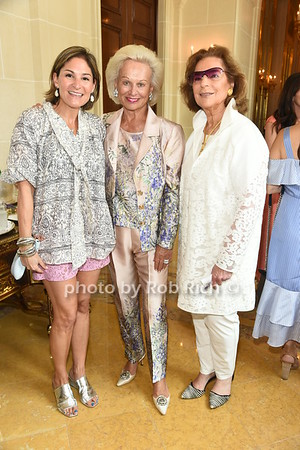 Jennifer Lipschultz, Ingeborg Rennert, and Marion Waxman attend the American Friends of the Open University of Israel Luncheon & Fashion extravaganza  at the Hamptons' residence of Ingeborg  and Ira Leon Rennert on Friday, July 7, 2017. photo by Rob Rich/SocietyAllure.com ©2017 robrich101@gmail.com 516-676-3939