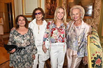 Chris Arlotta, Marion Waxman, Lisa Herbert Winter, and  Ingeborg Rennert attend the American Friends of the Open University of Israel Luncheon & Fashion extravaganza  at the Hamptons' residence of Ingeborg  and Ira Leon Rennert on Friday, July 7, 2017. photo by Rob Rich/SocietyAllure.com ©2017 robrich101@gmail.com 516-676-3939
