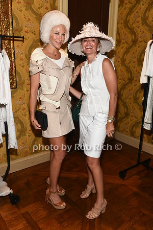 Eve Winston and Kim Heyman backstage at  the American Friends of the Open University of Israel Luncheon & Fashion extravaganza  at the Hamptons' residence of Ingeborg  and Ira Leon Rennert on Friday, July 7, 2017. photo by Rob Rich/SocietyAllure.com ©2017 robrich101@gmail.com 516-676-3939