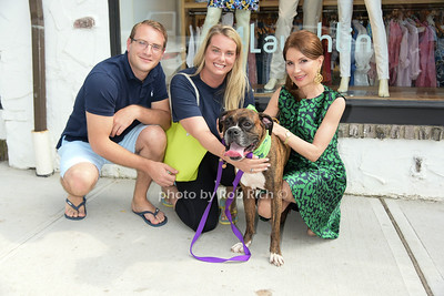 James Marzigliano, Kate McEntee, and Jean Shafiroff with Cyril the rescue dog