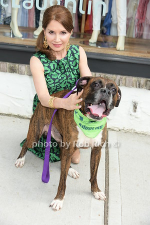 Jean Shafiroff with Cyril who is up for adoption