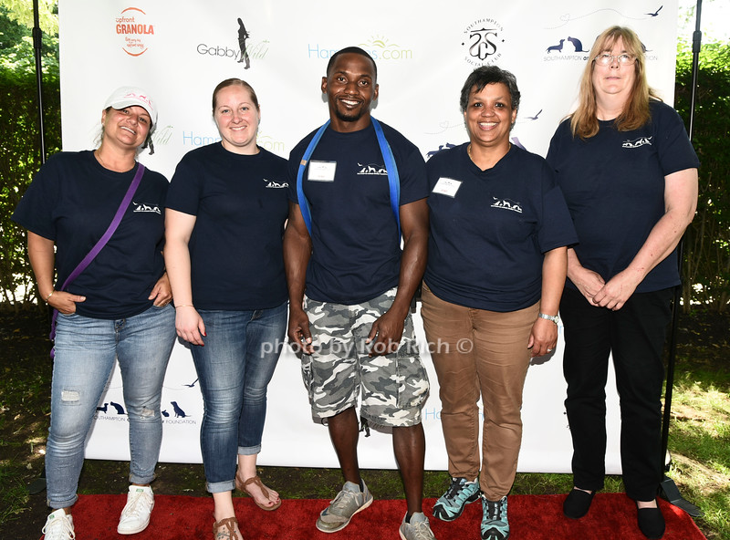 Wendy Carrio, Christina Vargas, Derrek Nash, Deborah Whitney, Kim Cannon attend the Catwalk for Canines ethical & eco fashion show to benefit the Southampton Animal foundation at the Southampton Social Club in Southampton on Saturday, June 10, 2017.