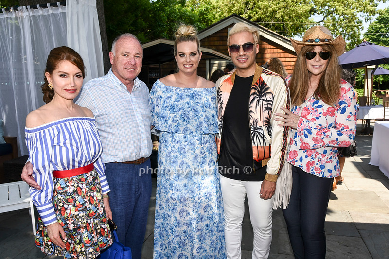 Jean Shafiroff, Jerry Rosenthal, Kate McEntee, Victor de Souza, and Jill Rappaport attend the Catwalk for Canines ethical & eco fashion show to benefit the Southampton Animal foundation at the Southampton Social Club in Southampton on Saturday, June 10, 2017.
