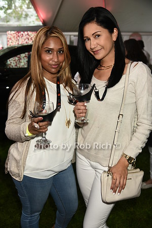 Jennifer Tembe and Kristin Young attend Dan's Rose' Soiree at the Southampton Arts Center in Southampon on May 28, 2017.