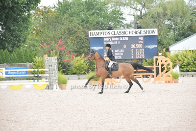 Mary Kate Olsen rides at the Hampton Classic 2017