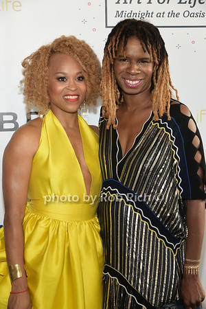 Esi Eggleston Bracey and Tangie Murray attend Russell Simmons Rush Philanthropic Arts Foundation Annual Art for Life Benefit  at Fairview Farms in Watermill on Saturday, July 15, 2017. photo by Rob Rich/SocietyAllure.com ©2017 robrich101@gmail.com 516-676-3939