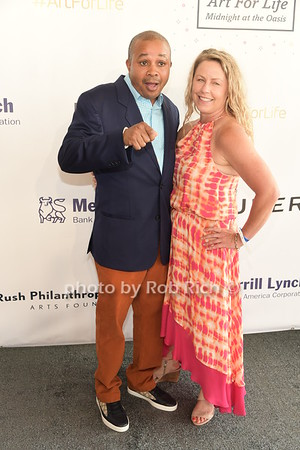 Chef Brian and JT attend Russell Simmons Rush Philanthropic Arts Foundation Annual Art for Life Benefit  at Fairview Farms in Watermill on Saturday, July 15, 2017. photo by Rob Rich/SocietyAllure.com ©2017 robrich101@gmail.com 516-676-3939