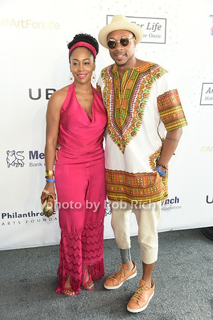 Simeone Missick and Dorian Missick attend Russell Simmons Rush Philanthropic Arts Foundation Annual Art for Life Benefit  at Fairview Farms in Watermill on Saturday, July 15, 2017. photo by Rob Rich/SocietyAllure.com ©2017 robrich101@gmail.com 516-676-3939