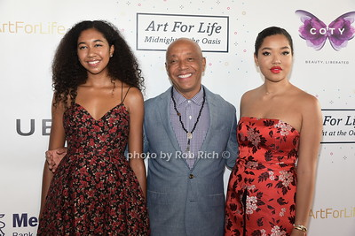 Ming Lee Simmons, Russell Simmons, and Aoki Lee Simmons attend Russell Simmons Rush Philanthropic Arts Foundation Annual Art for Life Benefit  at Fairview Farms in Watermill on Saturday, July 15, 2017. photo by Rob Rich/SocietyAllure.com ©2017 robrich101@gmail.com 516-676-3939