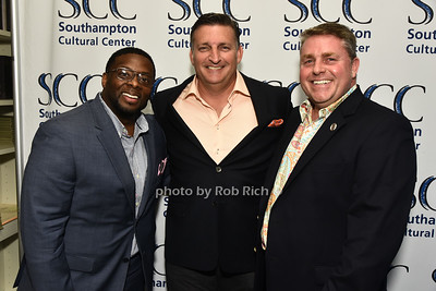 Curtiss Highsmith, Mayor Mark Epley, and Frank Ruhling attend the Southampon Cultural Society's annual gala at the Social Club in Southampton on Sunday, June 4, 2017.   photo  by Rob Rich/SocietyAllure.com ©2017 robrich101@gmail.com 516-676-3939