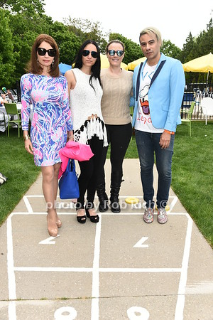 Jean Shafiroff.  Elizabeth  Shafiroff,  Vicror de Sosa , and Lindsey Spielfogal  attend the Southampton Inn's annual Memorial Day party in Southampton on May 28, 2017.