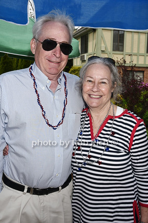 Terry Moan and  Dede Gotthelf attend the Southampton Inn's annual Memorial Day party in Southampton on May 28, 2017.
