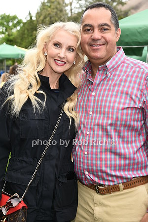 Katrina Peebles and Don Peebles attend the Southampton Inn's annual Memorial Day party in Southampton on May 28, 2017.