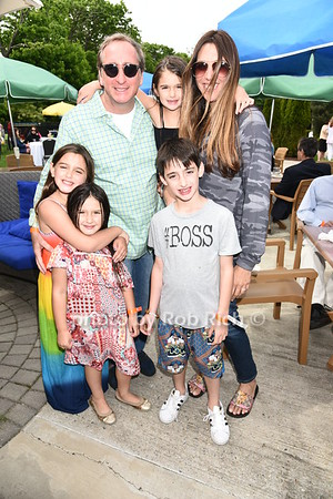 Brtadford Rand, Melissa Rand, and family attend the Southampton Inn's annual Memorial Day party in Southampton on May 28, 2017.