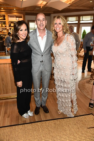 Rosanna Scotto, Matt Lauer, and Jill Martin attend the benefit for the Sag Harbor Cinema sponsored by the Sag Harbor Patrnership at Bibloquet Restaurant in Sag Harbor on Friday, June 16, 2017, photo by Rob Rich/SocietyAllure.com ©2017 robrich101@gmail.com 516-676-3939