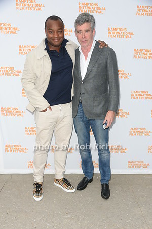 "Director of The Truman Tapes Ebs Burnough and Jay McInerney attend the screening of ""The Capote Tapes"" at the Hampton International Film Festival at the UA Cinema in Southampton on October 12, 2019. photo by Rob Rich/SocietyAllure.com"