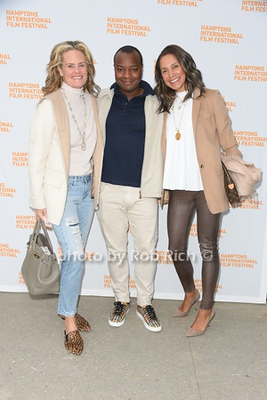 "Ashley McDermott, Ebs Burnough, and  Ellen Chube attend the screening of ""The Capote Tapes"" at the Hampton International Film Festival at the UA Cinema in Southampton on October 12, 2019. photo by Rob Rich/SocietyAllure.com"