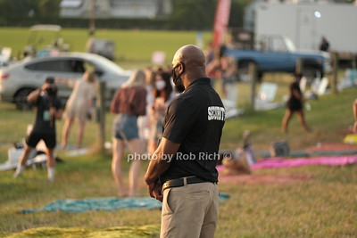 Member of Wison security at  The Chainsmokers concert at Nova's Ark in Watermill, NY on 7-25-20. photo by Rob Rich/SocietyAllure.com ©2020 robrich101@gmail.com 516-676-3939