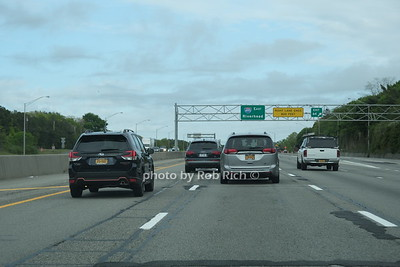 """Traffic moved  moved smoothley on the way """"Out East"""" on the LIE on friday of Memorial Day weekend. May 22, 2020: Hamptons photo by Rob Rich/SocietyAllure.com ©2020 robrich101@gmail.com 516-676-3939"""